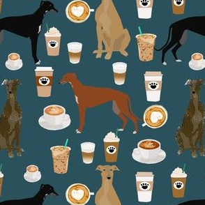 greyhound fabrics cute coffee fabric best coffee fabric latte fabrics cute coffee latte greyhounds fabric print