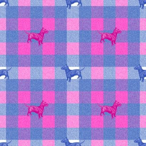 Emily Haddyr Presents Royal Dog Party ~ Scottie Plaid Flannel ~ Comtesse and Nelson