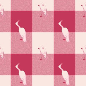 Windswept and Arabesque Gingham Flamingo Flannel