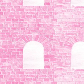 Castle Walls ~ Bubblegum Pink and White