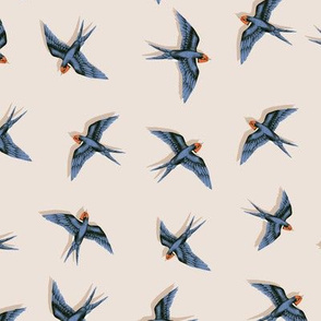 Swooping Swallows on Vanilla // small