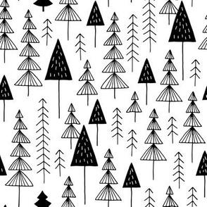 Winter adventure forest monochrome
