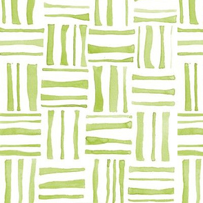Green Woven Watercolor
