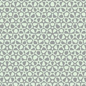 star quasicrystal in grey and pale green