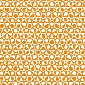 Star quasicrystal in orange and white