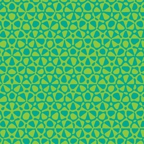 star quasicrystal in lime and aqua