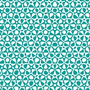 starfish quasicrystal in aqua and white