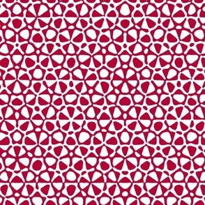 starfish quasicrystal in red and white