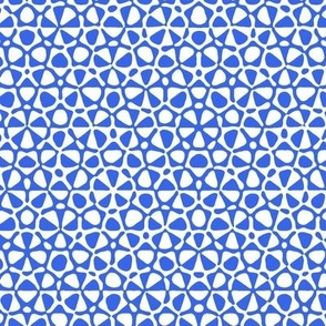 starfish quasicrystal in blue and white