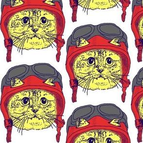 Moto Kitty Red Helmet