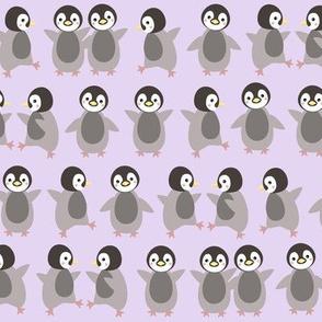 Just penguins on purple