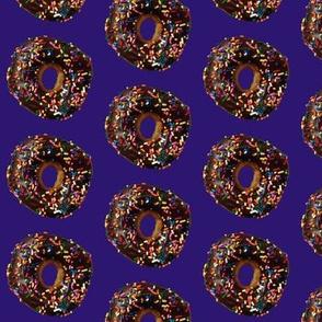 Chocolate Doughnut on Purple