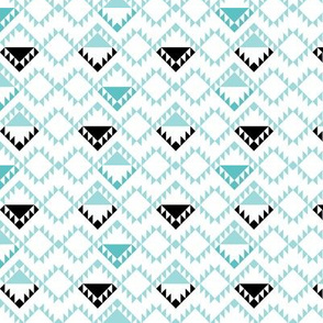 geo joe no.3 tribal aztec triangle geometric modern pattern
