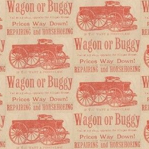Horse Drawn Buggy advertisement