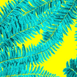 Tropical Fern ~ Turquoise on La!