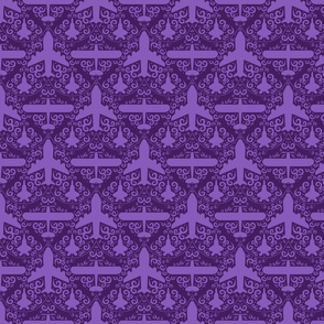Aircraft Damask (Purple)