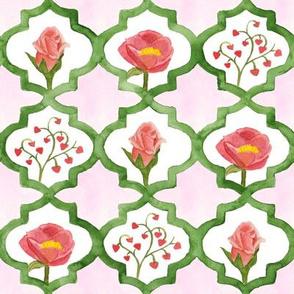 Valentine Lattice on Pink