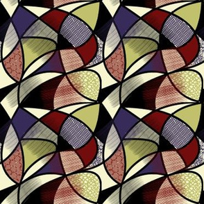 Stained Glass Cubist Mosaic