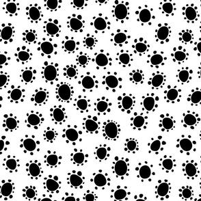 Spanish_Floral_Dots2_WHITEBLACK