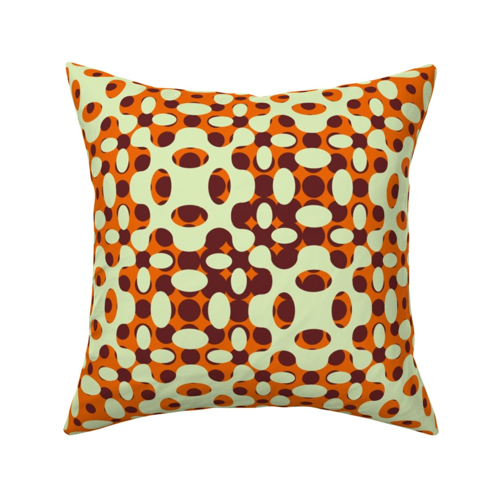 Catalan Throw Pillow featuring Organic Geometry Gradation - Orange by zuzana_licko