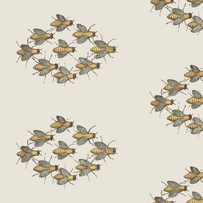 Bee Honey Bees - Flight Formation