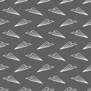 Paper Airplanes (Gray)