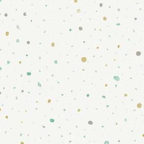 Gender Neutral Dots - teal & gold