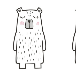 Bear Pillow Plush Plushie Softie Cut & Sew