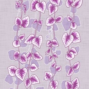 String of Hearts Lilac Purple