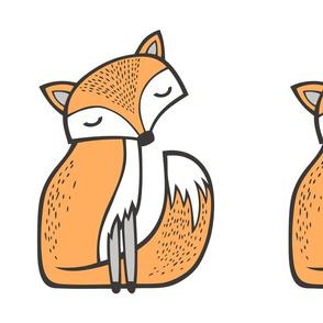 Dreamy Fox Pillow Plush Plushie Softie Cut & Sew