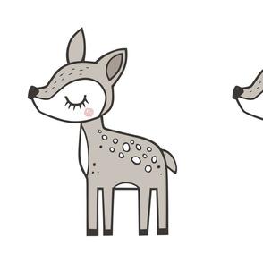 Deer Pillow Plush Plushie Softie Cut & Sew