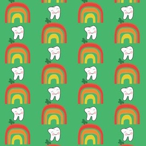 Dancing on Rainbows Spring Green Clover Green Butterfly   Dental / Tooth  Small