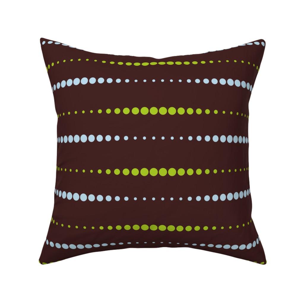 Catalan Throw Pillow featuring Dissolving Dots - Blue Green by zuzana_licko
