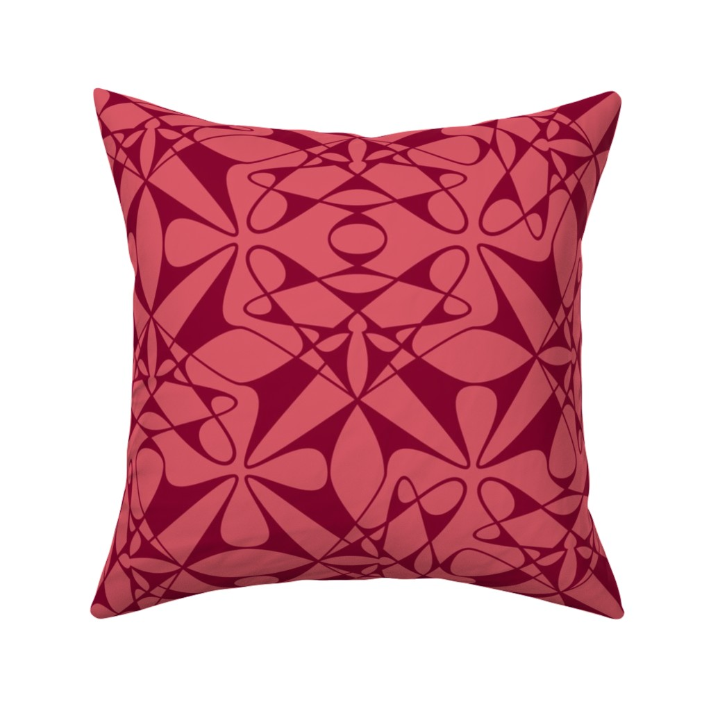 Catalan Throw Pillow featuring Dissolving Dots - Pink by zuzana_licko