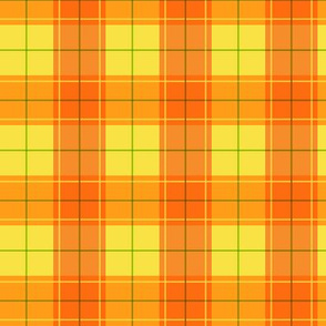 Orange Halloween Plaid