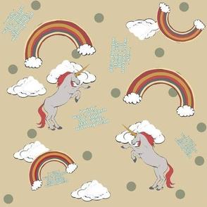 Clueless Unicorn Khaki