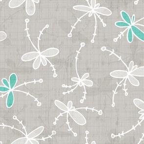 Flutter Flower-Light Grey