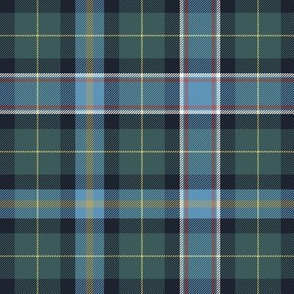 "Wisconsin official state tartan, 6"" weathered hues"