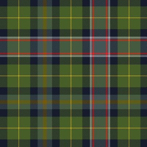 "Wisconsin official state tartan, 6"" warmer hues"