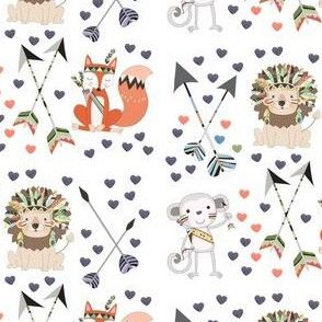 Tribal animals baby collection