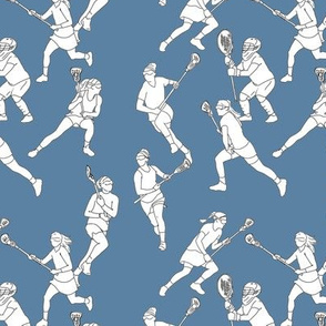 Lacrosse on Medium Blue