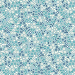 Blue Floral Ditsy