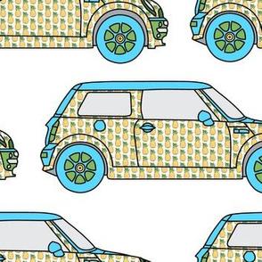 Cute Pineapple mini Car