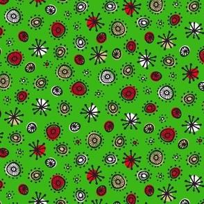 Merry Retro Atoms (Green)