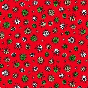 Merry Retro Atoms (Red)