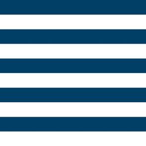 wide stripes denim blue