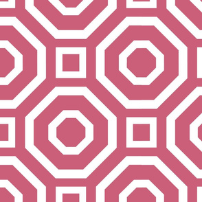 Geometry White on Pink