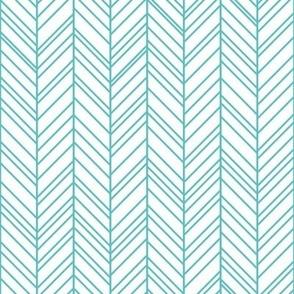 geo joe no.16 herringbone teal tribal aztec geometric modern pattern