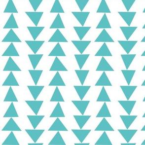 geo joe no.22 teal triangles tribal aztec geometric modern pattern
