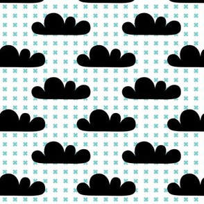 geo joe no.25 clouds tribal aztec triangle geometric modern pattern